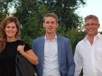 Myriam Reinle und Timo Sturn von Lendico mit Christian Müller.